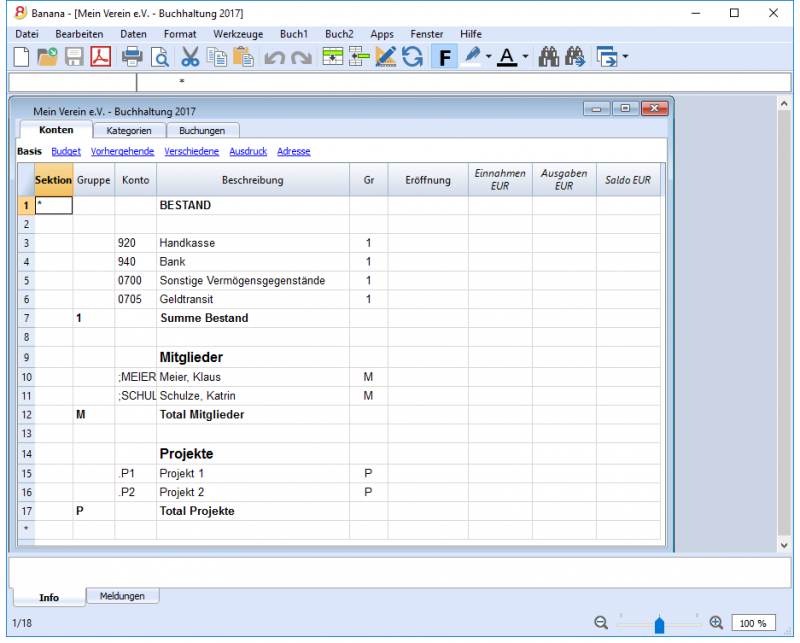 Einnahmen-Ausgaben-Rechnung | Banana Accounting Software