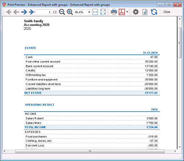 Income and Expenses Accounting | Banana Accounting Software