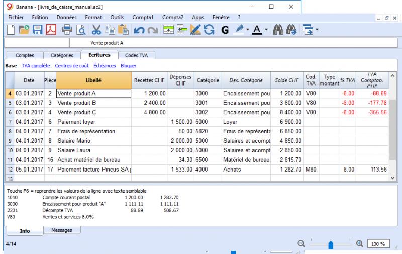 Commencer un livre de caisse | Banana Accounting Software