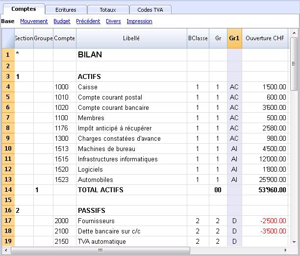 Fichier Rapport comptable   Banana Comptabilité 7