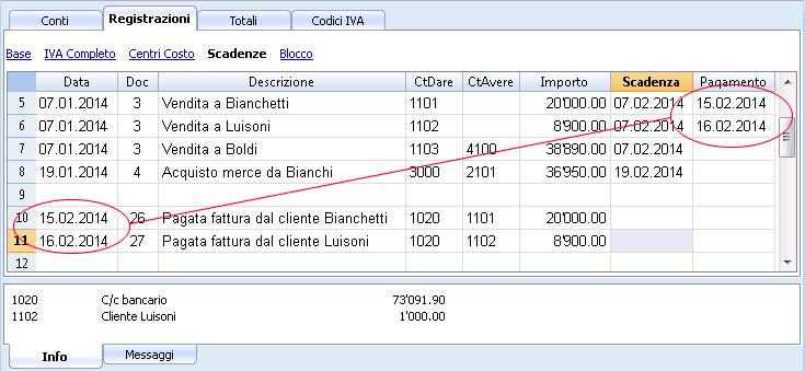 Visualizza scadenze banana contabilit 7 - Scadenze di pagamento ...