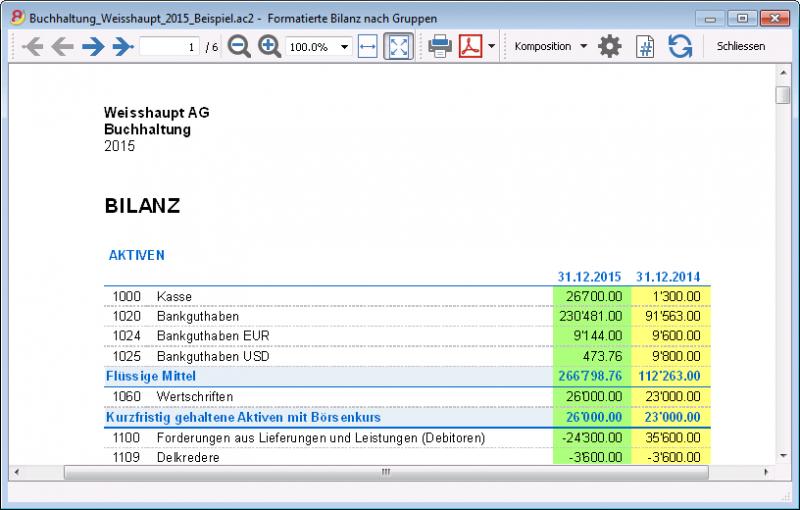Ausdrucke | Banana Accounting Software