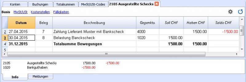Überweisungsschecks | Banana Accounting Software