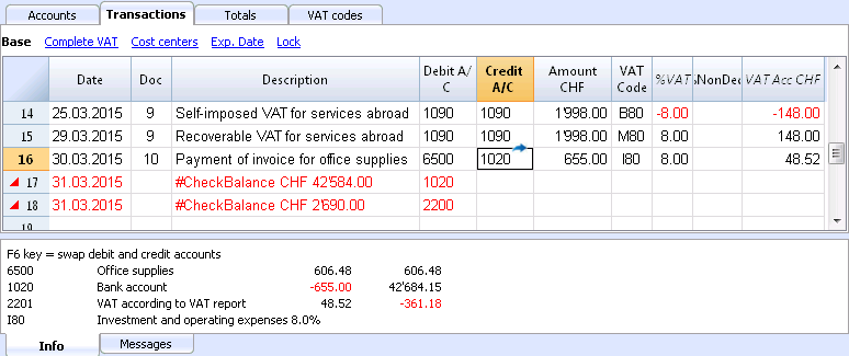 Check accounting | Banana Accounting Software - Doc9